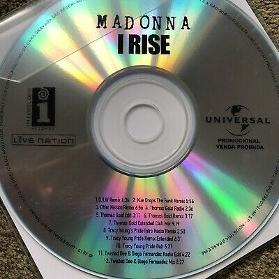 Madonna - I Rise - New 12 Remix Universal Brazilian Cd Promo 2