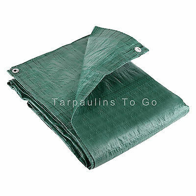 19 Sizes Waterproof Tarpaulin Ground Sheet Lightweight Camping Cover Tarp New 2
