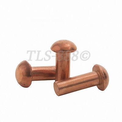 M2 M2.5 M3 M4 Pan Button Head Knurling Copper Rivets Solid Brass Rivet Fasteners 3