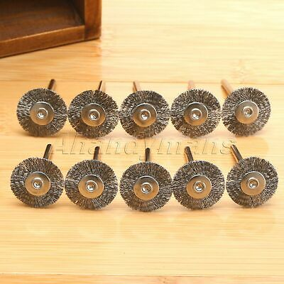 10Pcs Stainless Steel Wire Wheel Brushes Die Grinder Power Rotary Tool Wholesale 3