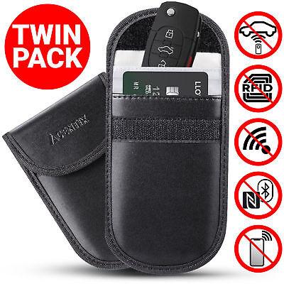 2X Car Key Signal Blocker Case Faraday Cage Fob Pouch Keyless RFID Blocking Bag 2