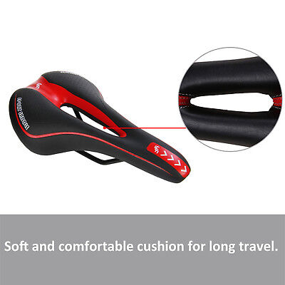 Bicycle Bike Cycle MTB Saddle Road Mountain Sports Soft Cushion Gel Pad Seat Red 7