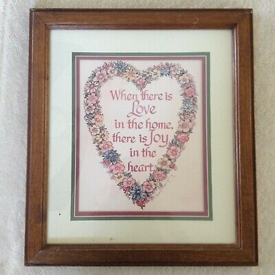 Home Interior Love Heart Matted Print Discontinued Homco 16 99 Picclick