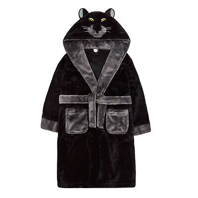 New Boys Novelty Gorilla Panther Robe Hooded Soft Fleece Dressing Gown Xmas Gift 2