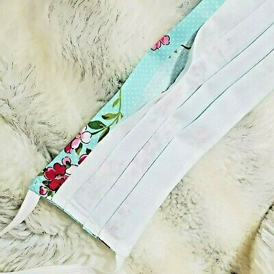 Adult Handmade Reusable Washable Cotton Face Mask With Filter Pocket Nose Wire 6