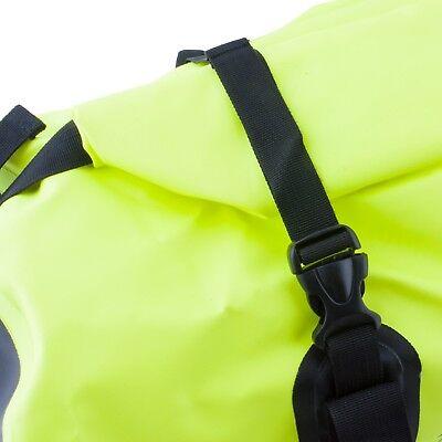 50L Motorcycle Luggage Duffel Holdall Waterproof Roll Shut Bag Flo Yellow 6