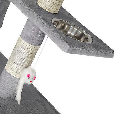 Arbre à chat xxl griffoir grattoir geant avec 2 grottes anthracite gris 4