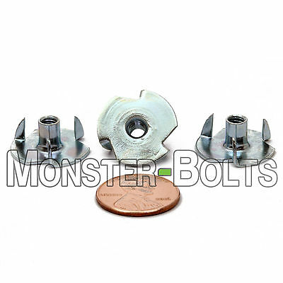 Steel Straight Barrel Zinc Plated Thread Size: 5//16-18 Barrel Height: 5//8 Tee Nuts 4 Prong 5//16-18 x 5//8 Quantity: 100