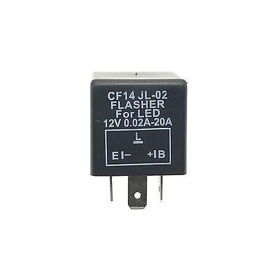 LED Blinker-Relais Lastunabhängig 12V 0,02-20A 3-Polig CF14 Flasher Blinkrelais 5