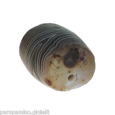 (0485) Striped Agate Bead from China-Tibet,    中国古董有条纹的玛瑙珠 7