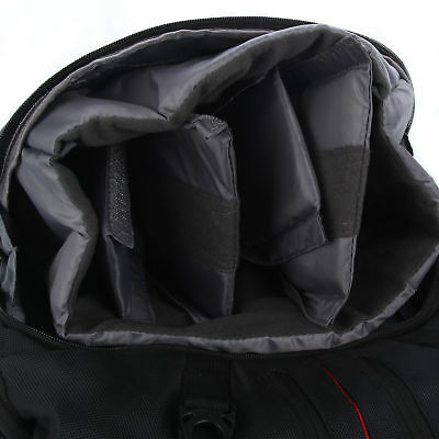 LARGE DSLR SLR Camera Backpack Rucksack Bag Case+RainCover For Nikon Sony Canon 9
