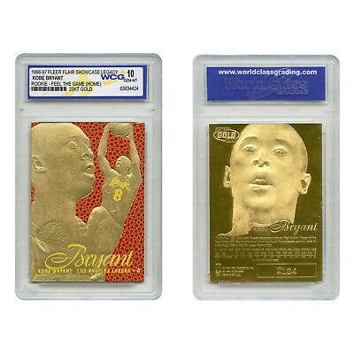 1996-97 KOBE BRYANT FEEL THE GAME Fleer NBA Legacy GOLD ROOKIE Home GEM-MINT 10 2