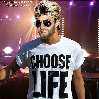 CHOOSE LIFE T Shirt Wham Replica George Michael 80s Retro Fancy Dress S-3XL Lot 6