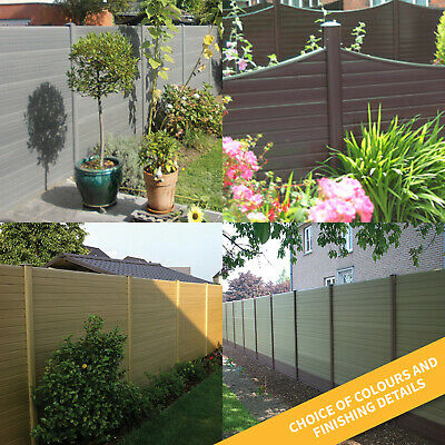 Plastic Composite Fence Boards Eco Fencing Replacement uPVC Garden Panels & Post 7