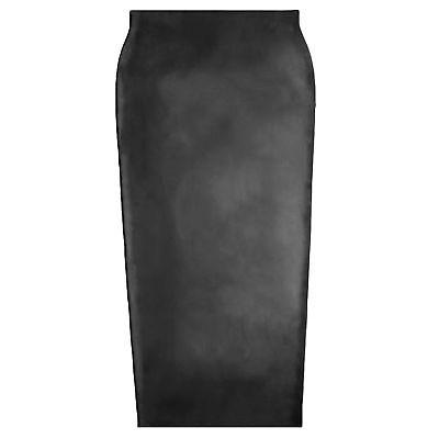 Langer Latex Humpelrock aus Rubber in schwarz, Einheitsgröße 7