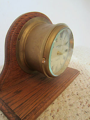 "Nautical, Brass & Wood, ""Quartz"" Mantle Clock 3"