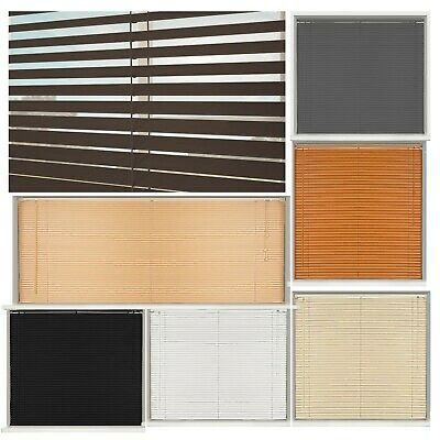 Pvc Blinds Window Venetian White Easy Fit Home Office Blind Wood Effect All Size 5