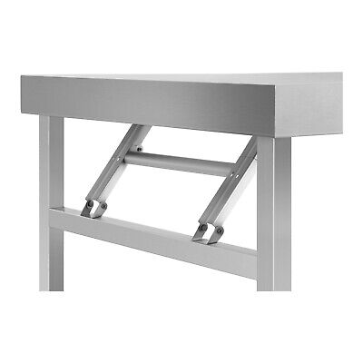 Folding Work Table Heavy Duty Stainless Steel Foldable Catering Table 4 Ft 120Kg 2