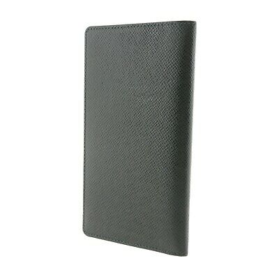 Auth LOUIS VUITTON Agenda Poche Day Planner Cover Green Leather R20425 #f30479 2
