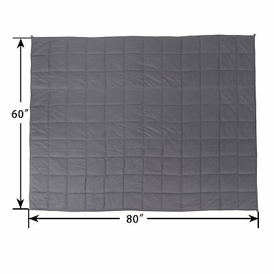 """60"""" x80"""" Weighted Blanket  Full Queen Size Reduce Stress Promote Deep Sleep 20lb 3"""