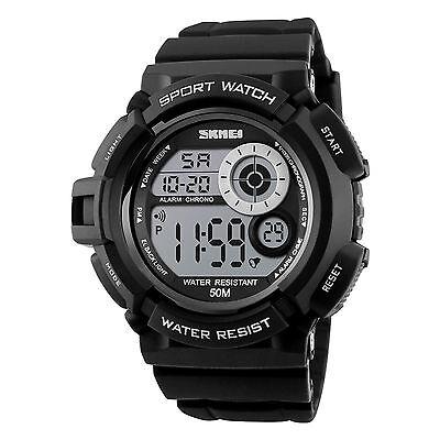 Men's Army SHOCK Sport Quartz Wrist Day Date Digital Watch Waterproof Military 3