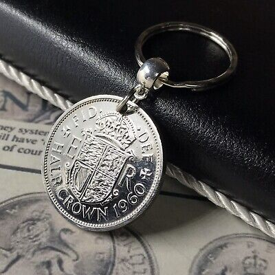 51st Birthday Free UK P/&P 1967 keyring Florin Coin gift box