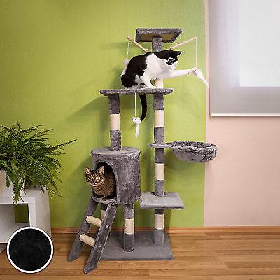Arbre à chat griffoir grattoir jouet animaux douillet et peluché noir 3