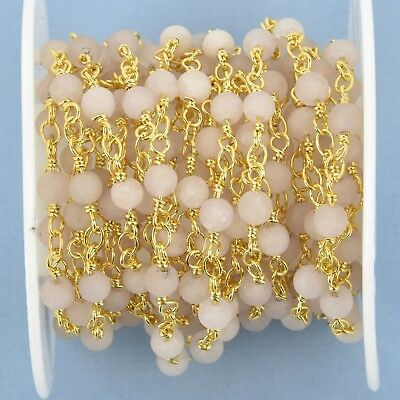 1 yard MATTE WHITE AGATE Rosary Chain 4mm round gemstone, frosted fch1007a 2