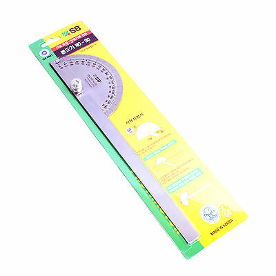 Woodworking Protractor With Round Head Stainless Steel 0-180 degrees 305mm KOREA 3