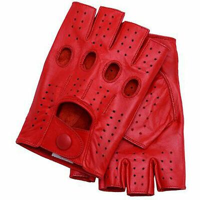 Fingerless 100% Genuine Leather Driving Gloves Chauffer Swift wears 2