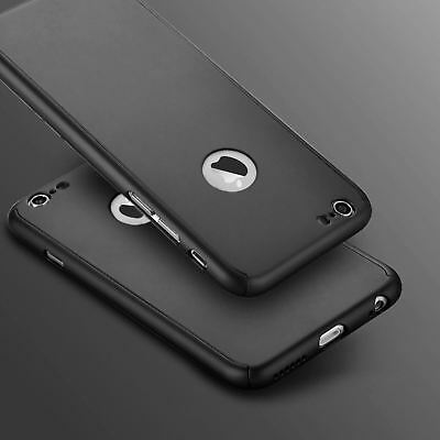 Hybrid 360° Shockproof Case Tempered Glass Cover For Apple iPhone 10 X 8 7 6s 5 10