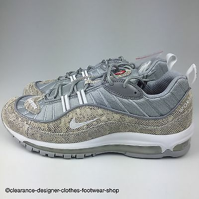 finest selection 057a8 d767f NIKE AIR MAX 98 Supreme X Mens Trainers Nike Lab Ltd Edition Rare Snakeskin  Shoe