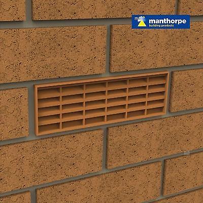 "10 x Buff Interlocking Air Brick Vents 9"" x 3"" Grille for Air Flow Ventilation 2"