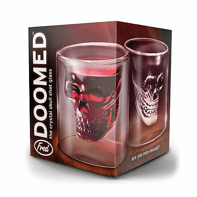 4x 3D Crystal Skull Head Vodka Shot Whiskey Wine Beer Tea Glass Drinking Cup V2 3