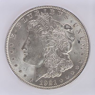 1921 Silver Morgan Dollar ICG MS64 S$1 Lot of 1 3