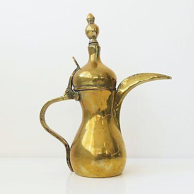 "Copper Antique 11"" Dallah Arabic Middle East Kettle Pot Marked 3"