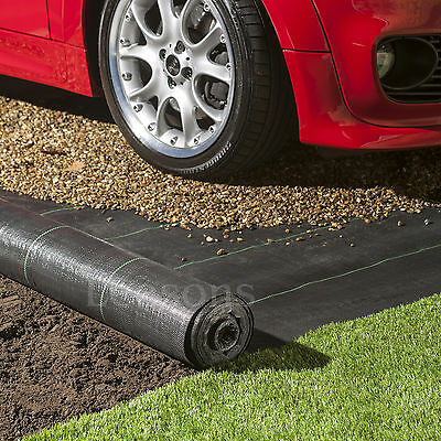 3m wide 100gsm weed control fabric ground cover membrane landscape mulch garden 3