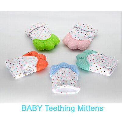 Silicone Baby Teether Teething Mitten Mitt Glove Safe BPA Free Chew Dummy Toy 4