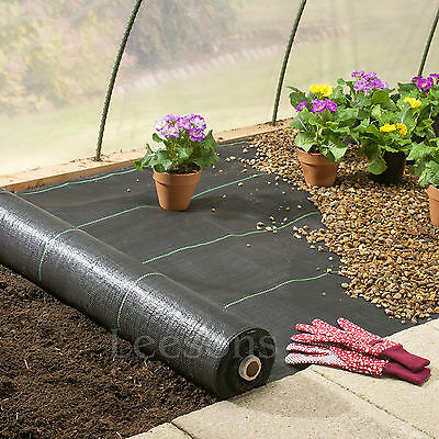 2m wide 100gsm weed control fabric ground cover membrane landscape mulch garden 6