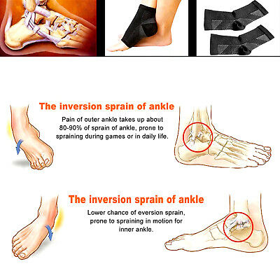 Foot Sleeve Plantar Facilities Compression Socks Sore Achy Swelling Heel Ankle 3