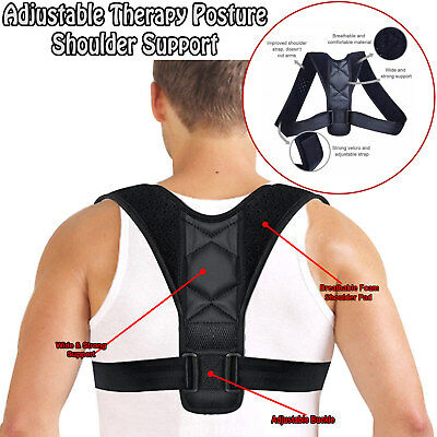 Posture Clavicle Support Corrector Back Straight Shoulders Brace Strap Correct 11