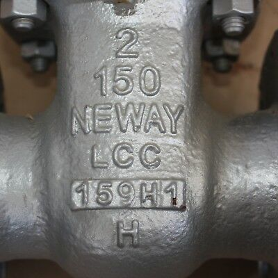 "NEWAY GATE VALVE LCC 2"" inch class 150 DN50 50mm WCB Manual 159H1 373R4 3"