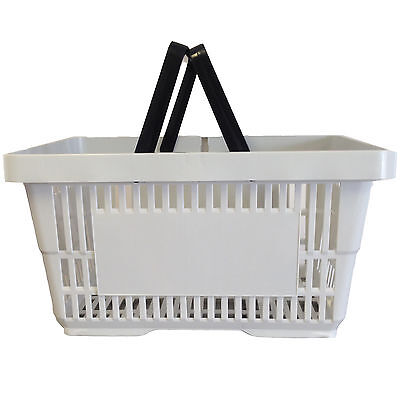 2 Handle Grey Plastic Shopping Basket Retail Supermarket Use Hand Carry 4