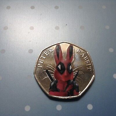 Beatrix Potter Peter Rabbit Marvel Super hero decal 50p set Spider Bat Deadpool 4