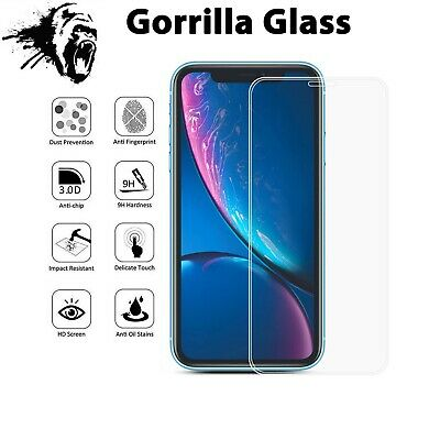 Screen Protector for New iPhone XR XS Max XS X Gorilla Tempered Glass 3