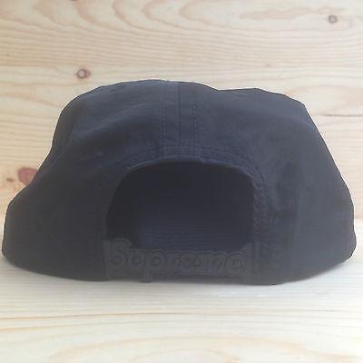 1e168e75876 ... of 7 Supreme Nylon Logo Strap Black Camp Cap Five Panel Hat Box Zulu  Bar Tonal Ss2016 4