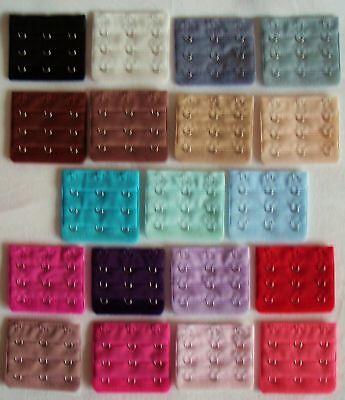 Colour Bra Extender Red Blue Purple Ivory Grey Green Brown Black 2 3 4 5 6 Hook