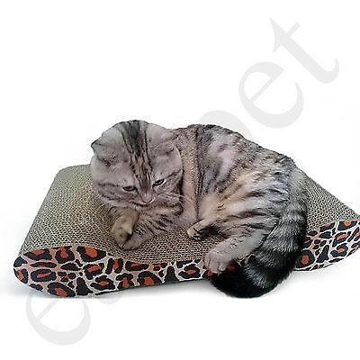 Cat Kitten Cardboard Corrugated Scratcher Scratching Pad Sofa Bed Board Mat 5