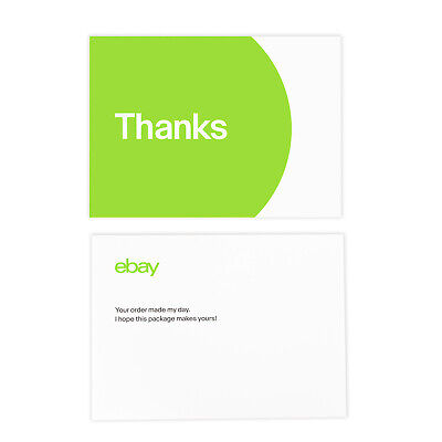 "NEW EDITION 3-Color, eBay-Branded 5.5"" x 4"" Thank You Postcards Multi-Pack 3"