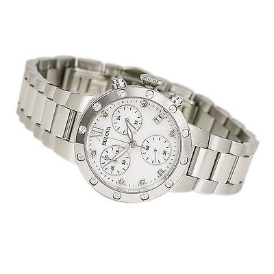Bulova Women's 96R202 Diamond Chronograph Quartz Mother of Pearl Dial Watch 3
